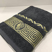 Махровое банное полотенце 70х140 см серый 430 гр/м2