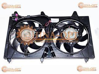 Диффузор радиатора в сборе с вентиляторами Чери Джагги Кимо Бит Chery Jaggi Kimo Beat 1.0 1.3 МТ АТ