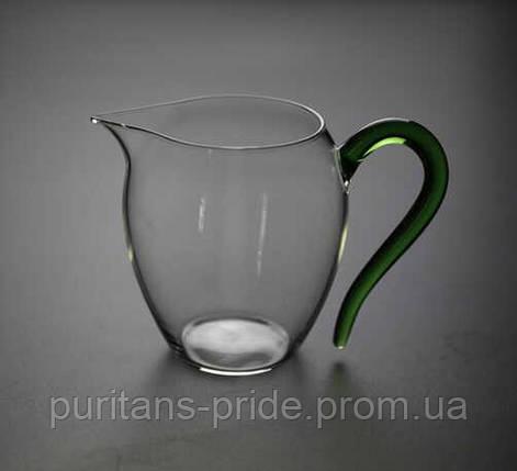Чахай стеклянная «Зеленая» 300 мл   Посуда для чайной церемонии, фото 2