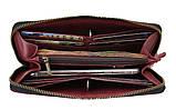 Гаманець жіночий шкіряний клатч великий travel SULLIVAN марсала, фото 4