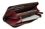 Гаманець жіночий шкіряний клатч великий travel SULLIVAN марсала, фото 2