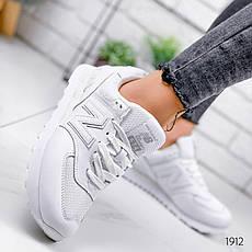 Кроссовки женские белые из натуральной кожи в стиле New Balance. Кросівки жіночі білі, фото 2