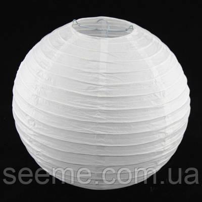 Шар подвесной декоративный «Плиссе Классик», диаметр 30 см. Цвет белый