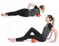 Массажный валик для спины, йоги, фитнеса в форме арахиса 30см