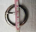 Пряжка декоративная металлическая 4,5см, фото 2