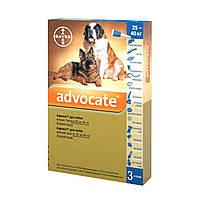 Капли на холку для собак Bayer «Advocate» (Адвокат) от 25 до 40 кг