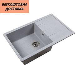 Мойка каменная Ventolux DIAMANTE (GRAY GRANIT) 765x485x200 Серая