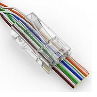 Конектор Merlion RJ-45 8P8C UTP Cat-5 (50 шт/уп.) для наскрізного підключення