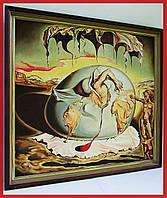Сальвадор Дали Живопись Большая интерьерная картина маслом на холсте в раме Декор интерьера дома кафе