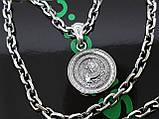 Серебряная цепочка с кулоном, фото 2