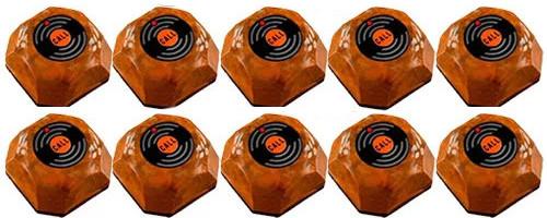 Фото: кнопки виклику офіціанта HCM-110 Wood - 10 штук - комплект системи виклику RECS №106