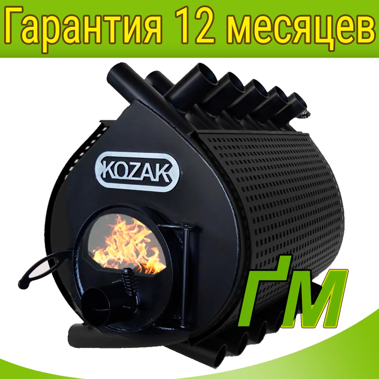 Печь-булерьян KOZAK-04 на 1000 м³ (стекло+кожух)