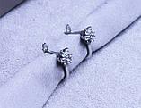 Серьги фирмы Xuping с цирконием (Серьги color 38 ), фото 4