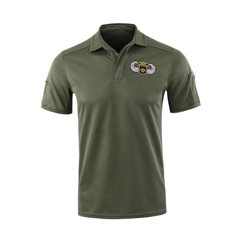 Тактическая футболка с коротким рукавом ESDY A817 Green размер S мужская