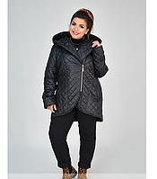 Пальто-куртка женское стеганое Демисезон в стиле Визитка размер 48-54 (56)
