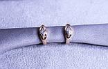 Позолоченные серьги фирмы Xuping (Серьги color 79), фото 4