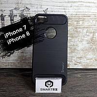 Противоударный чехол для iPhone 7 / iPhone 8 iPaky Карбон Черный, фото 1