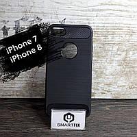 Противоударный силиконовый чехол для iPhone 7 / iPhone 8 SGP Черный, фото 1