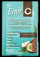 Витаминный Напиток для Повышения Иммунитета, Вкус Ананаса и Кокоса, Vitamin C, Ener-C, 1 пакетик