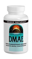 DMAE (диметиламиноэтанол) 351мг, Source Naturals, 200 капсул
