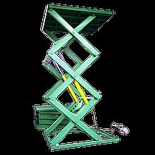 Гидравлический ножничный лифт 1,5т. Платформа 2.1х2м.Подъем 4м.