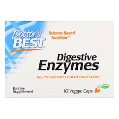 Пищеварительные ферменты, Digestive Enzymes, Doctor's Best, 10 капсул