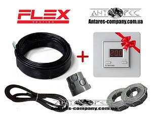 Двужильный нагревательный кабель под плитку в стяжку FLEX EHM + Terneo ST ( класс защиты IPX7 )