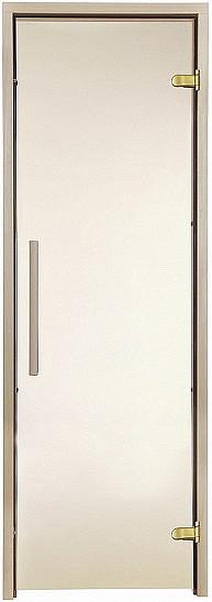 Скляні двері для лазні/сауни GREUS Premium 80/200 матова бронза