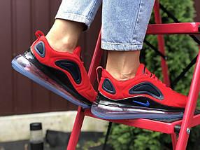 Кроссовки женские красные текстильные деми легкие классические, фото 3