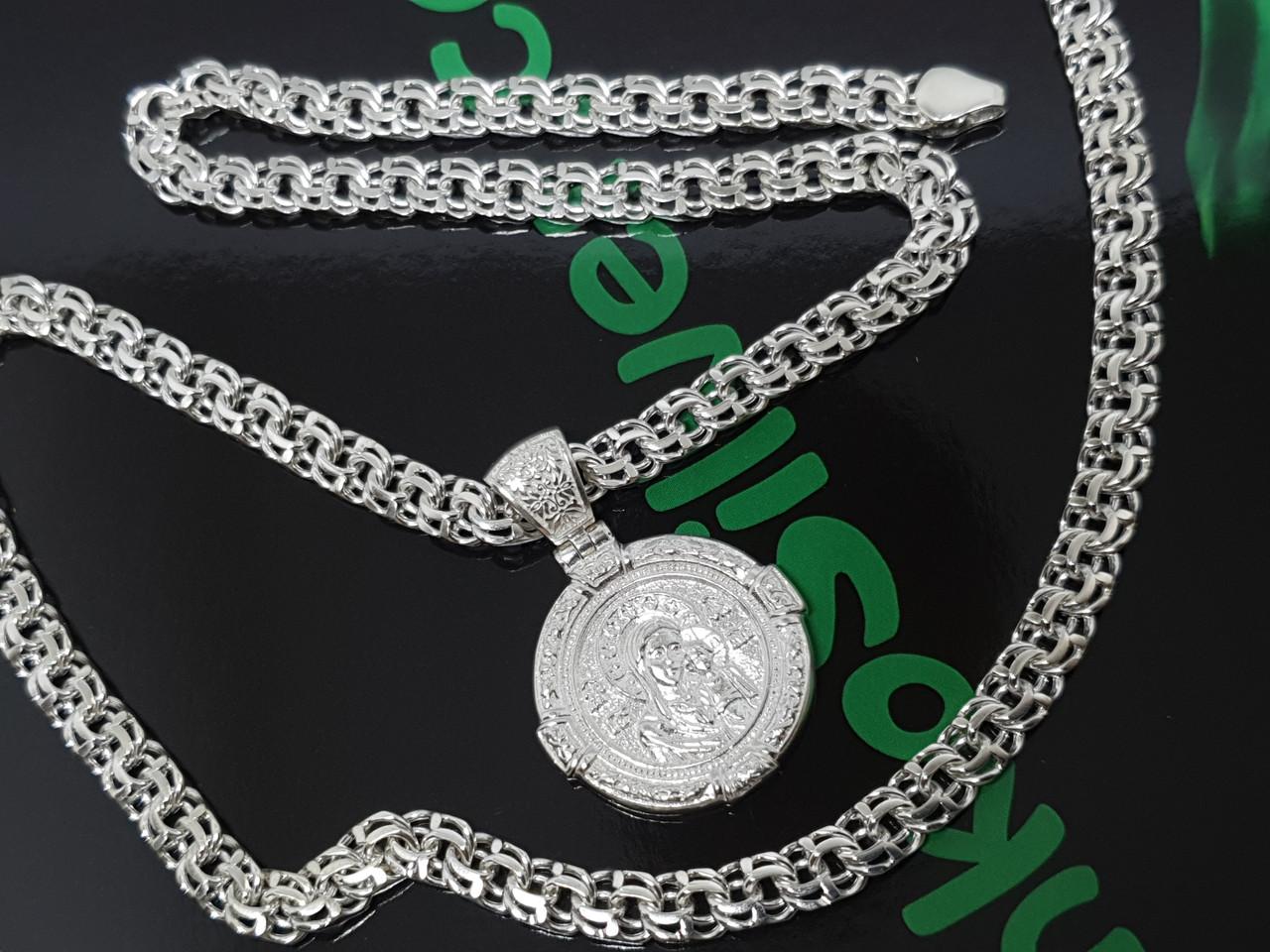 Серебряная цепочка с иконкой