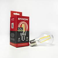 Винтажная LED лампа Эдисона 12W A60 3000K E27 ETRON Filament 1-EFP-105