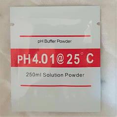 Калибровочный раствор для ph метра - pH 4.01 (на 250 мл воды)