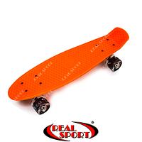 Скейтборд Penny Board Green SK120066 22in со светящимися колесами