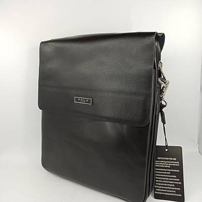 Мужская кожаная сумка планшет через плечо Polo B86686-4
