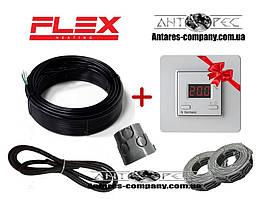 Двухжильный экранированный тонкий нагревательный кабель Flex ( 8 м.кв ) 1400 вт серия Terneo ST