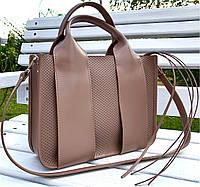 684-XL Натуральная кожа Сумка женская кофейная кожаная бежевая женская сумка из натуральной кожи А4 формат