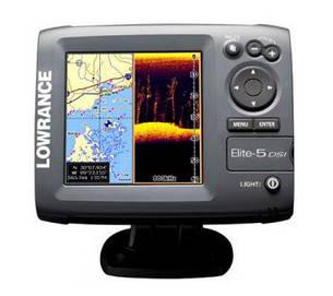 Б/У Эхолот Lowrance Elite-5 DSI. Картплоттер, навигационно-картографическая система GPS, фото 2