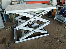 Гидравлический ножничный лифт 1т. Платформа 1.5х1,15м.Подъем 1,45м.