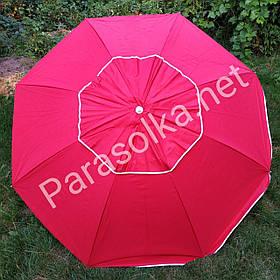 Пляжний зонт червоний брезентовий 2 метри