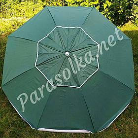 Пляжний зонт темно-зелений брезентовий 2 метри