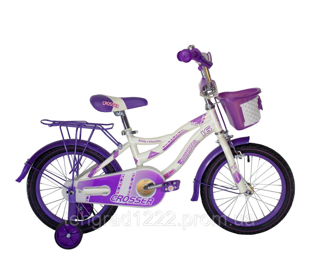 """Детский велосипед для девочек Crosser Kiddy 16"""""""