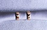Сережки фірми Xuping кільця (color 65), фото 2