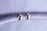 Оригінальні сережки-хрестики фірми Xuping (color 53), фото 3