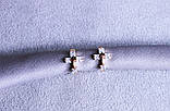 Оригинальные серьги-крестики фирмы Xuping (color 53), фото 3