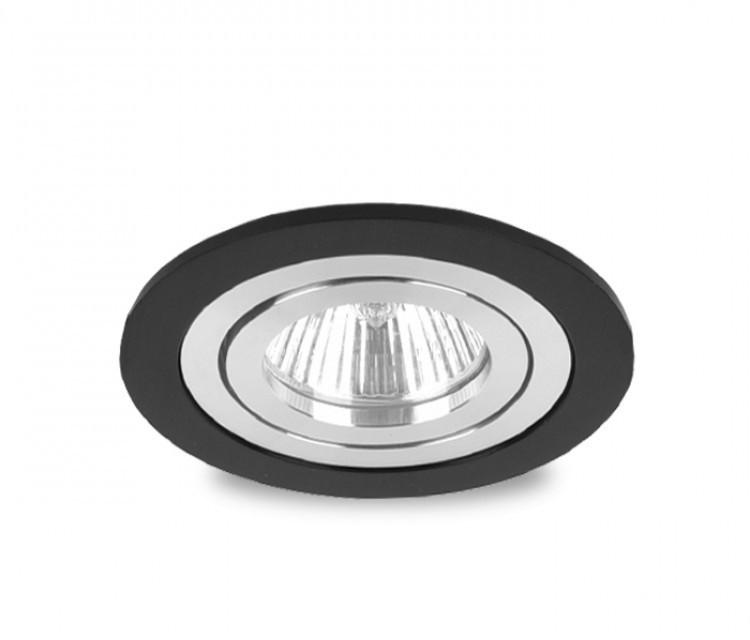 Точечный светильник DH160B-R черный+хром поворотный