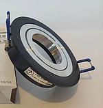 Точечный светильник DH160B-R черный+хром поворотный, фото 3