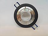 Точечный светильник DH160B-R черный+хром поворотный, фото 2