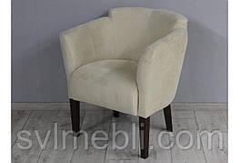 Кресло Мишель замш бежевый ножки венге