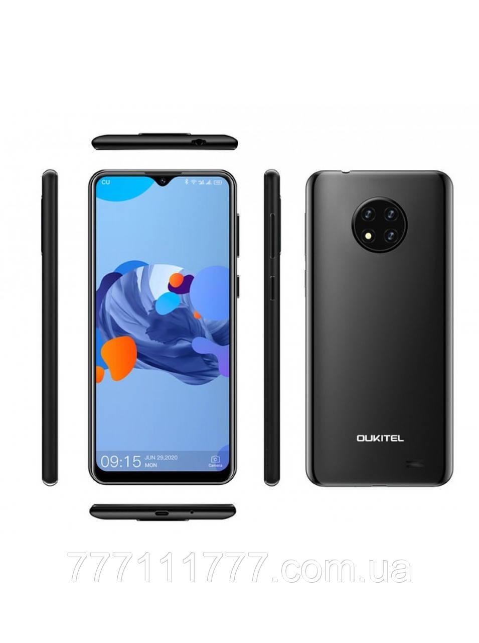 Смартфон черный с хорошей батареей большой емкости и тремя камерами на 2 sim OUKITEL C19 black 2/16 гб