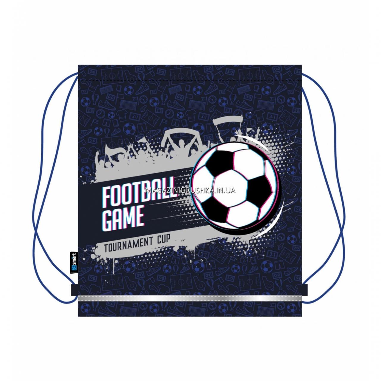Сумка для взуття SMART Футбольні game Синій (558327)